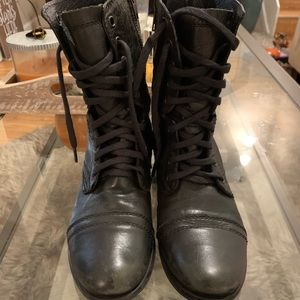 Steve Madden Troopa Military combat boots